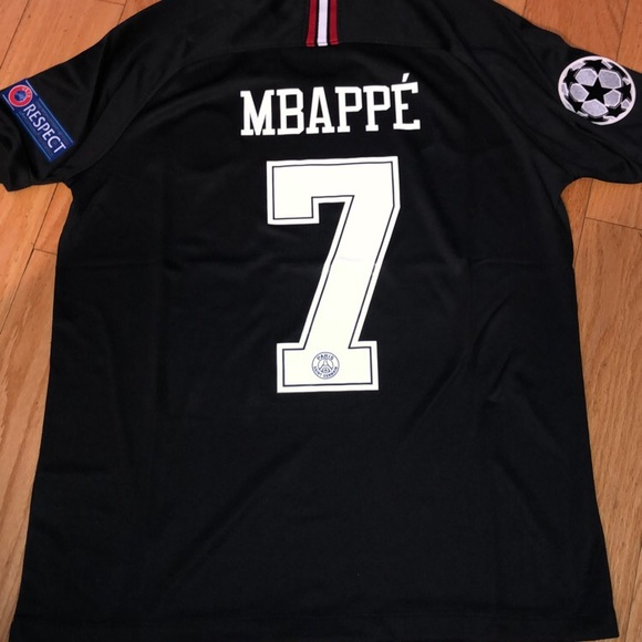 new styles f07f6 d7365 PSG Champions league # 7 Mbappe Jersey NWT